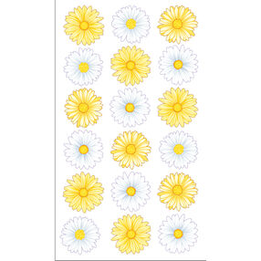 Lazy Daisies Stickers_52-00964