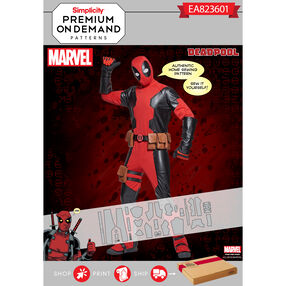 Simplicity Pattern EA823601 Men's Deadpool Premium Print on Demand Costume