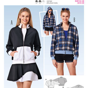 Burda Style Pattern 6799 Jackets, Coats, Vests