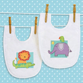 Rub-a-Dub Bibs, Stamped Cross Stitch_70-74369