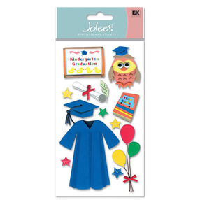 Foam Kindergarten Grad Stickers_EVAJLG007