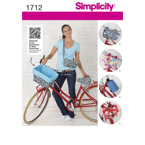 Simplicity Pattern 1712 Bicycle Bags and Seat Cover