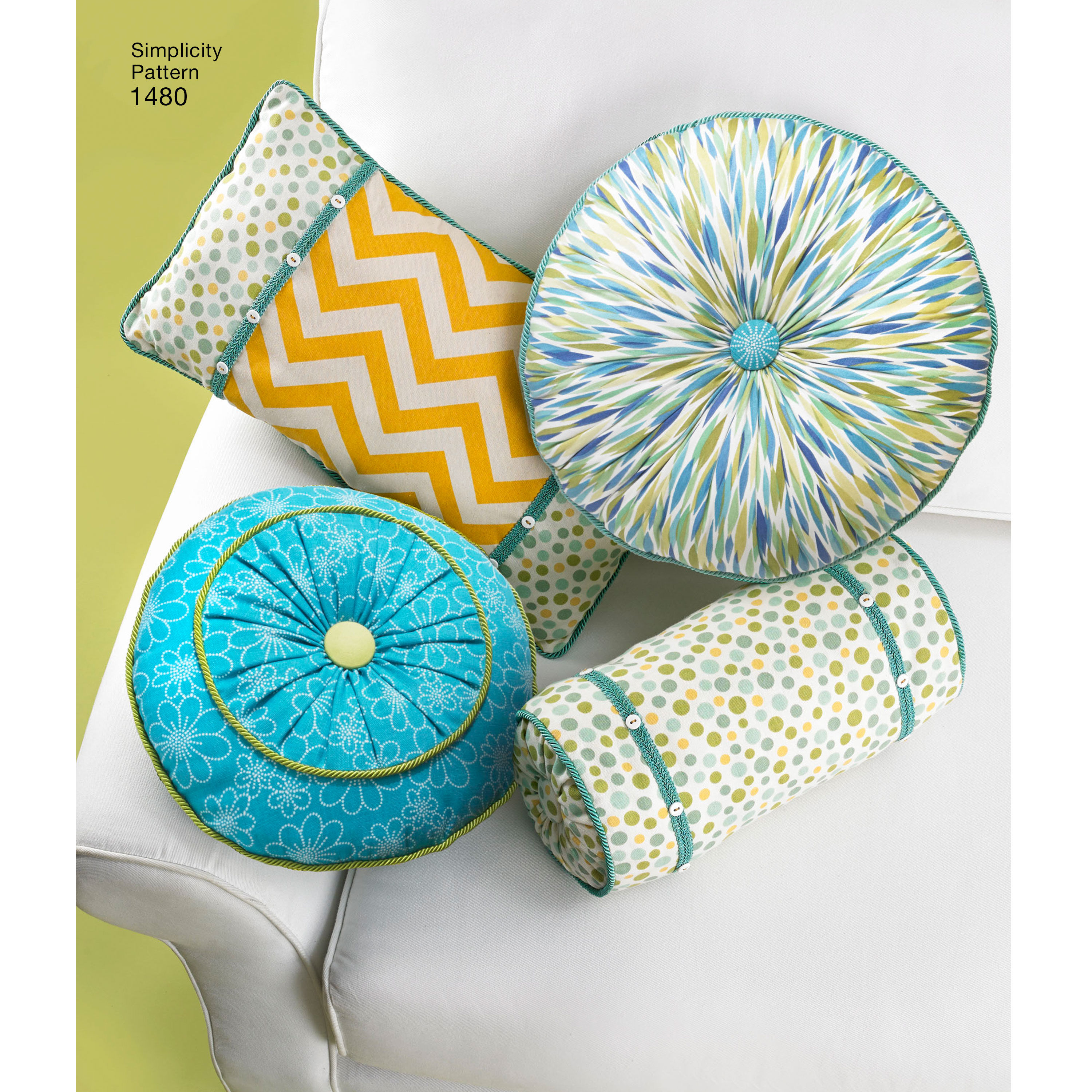simplicity pattern decorative pillows and neck rolls