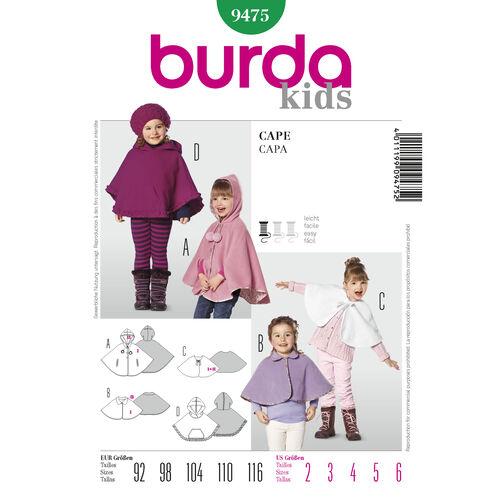Burda Style Pattern 9475 Cape