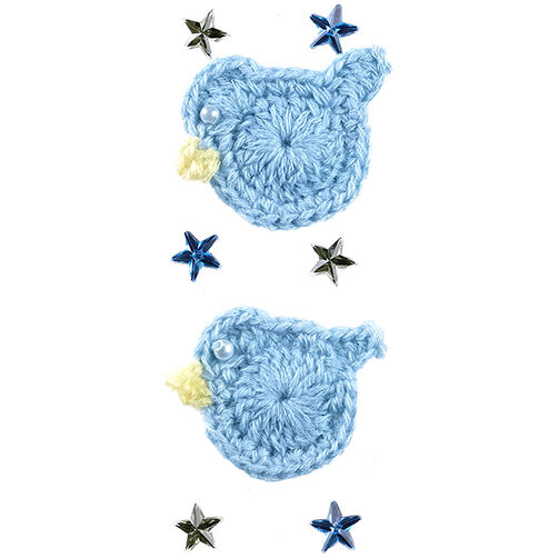 Baby Boy Crocheted Duck Stickers_50-40346