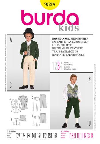 Burda Style Pattern 9528 Biedermeier Pantsuit