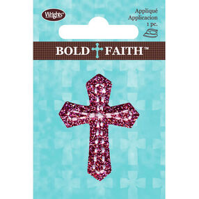 Glitter Cross Iron-On Applique Set