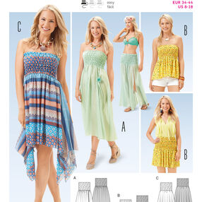 B6651 Misses' Dress, Top and  Skirt