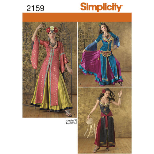 Simplicity Pattern 2159 Misses' Costumes