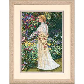 In Her Garden, Counted Cross Stitch_35119