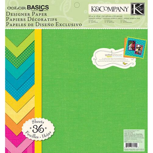 Color Basics Radiant 12x12 Designer Paper Pad_30-613409