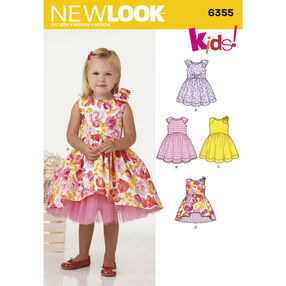 New Look Pattern 6355 Toddlers' Dress with Length Variations