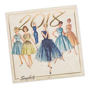 Simplicity Vintage 2018 Wall Calendar