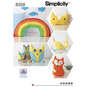 Simplicity Pattern 8358 Stuffed Animals