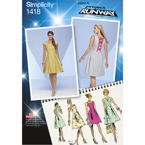 Simplicity Pattern 1418 Misses' Dress with Bodice Variations