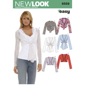 New Look Pattern 6559 Misses Tops
