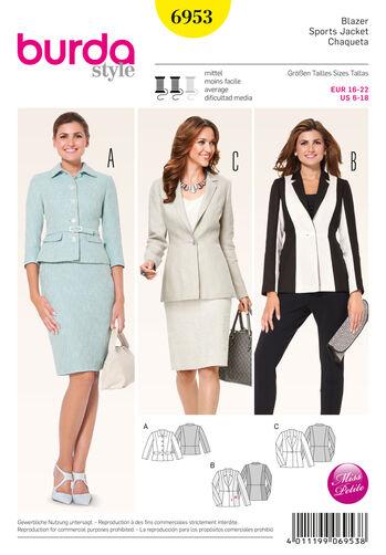 Burda Style Pattern 6953 Petite / Half Sizes