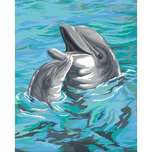 Dolphin Duo, Paint by Number_91148