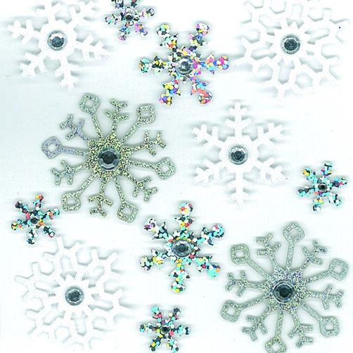 Glitter Snowflake Stickers_50-20484