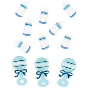 Baby Boy Bottle and Rattle Embellishments_50-00440