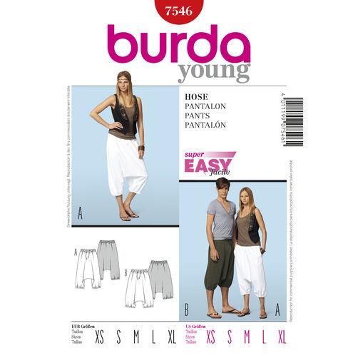 Burda Style Pattern 7546 Pants