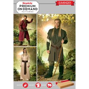 Simplicity Pattern EA494201 Premium Print on Demand Men's Costumes