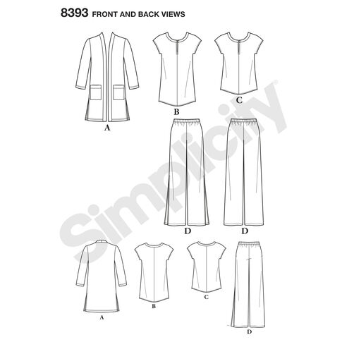 Simplicity Pattern 8393 Misses' and Plus Size Pants, Tunic