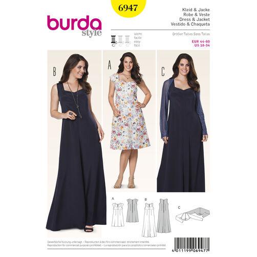 Burda Style Pattern 6947 Plus to size 60