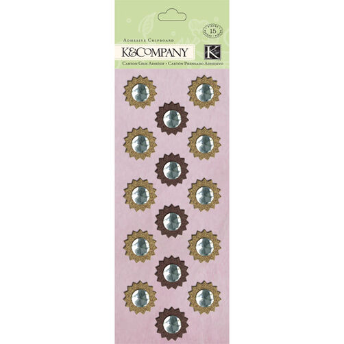Flora & Fauna Medallion Adhesive Chipboard_30-613690