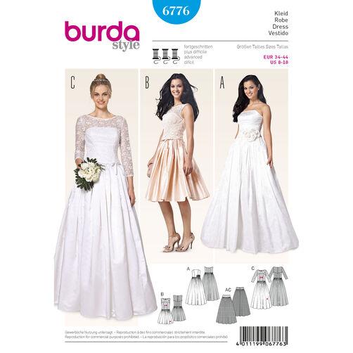 Burda Style Pattern 6776 Evening & Bridal Wear