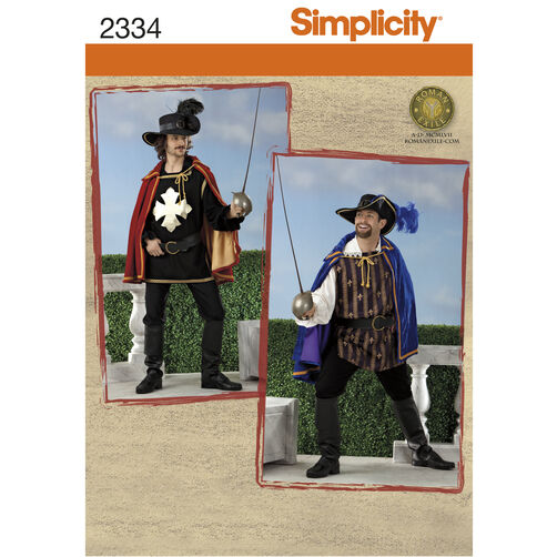 Simplicity Pattern 2334 Men's Costumes
