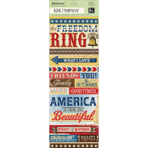 Americana Word Embossed Stickers_30-614338