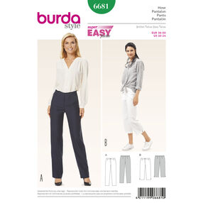 Burda Style Pattern 6681 Misses' Pants