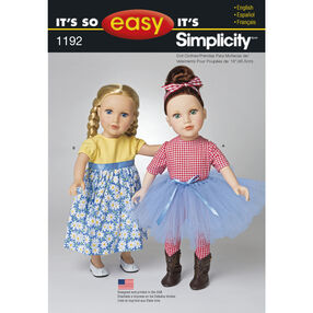 It's So Easy Pattern 1192 Clothes for 18 inch Doll