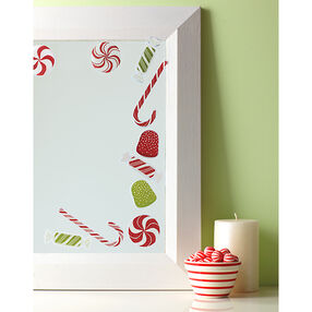 Peppermint Winter Mirror Clings_48-30223