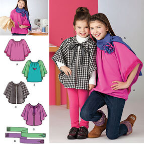 Learn to Sew Child's & Girls' Top and Capelet