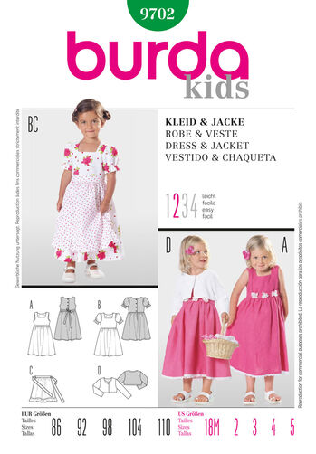Burda Style Pattern 9702 Dress & Jacket