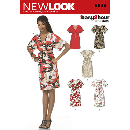 New Look Pattern 6936 Misses' Dresses
