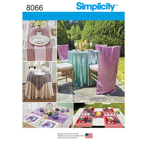Simplicity Pattern 8066 Table Accessories