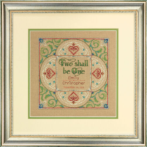 Two as One Wedding Record Counted Cross Stitch Kit_70-73814