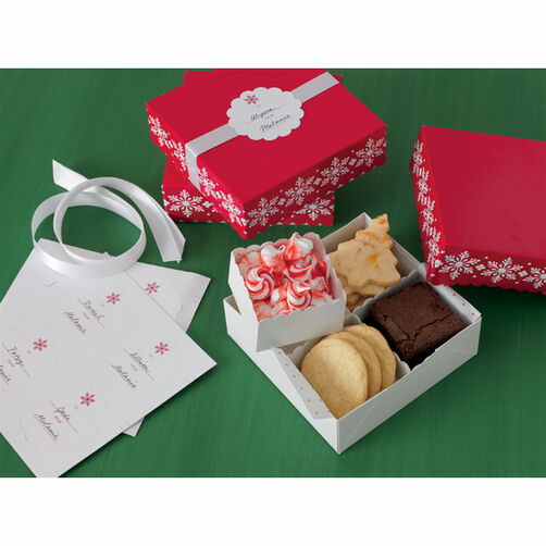 Snowflake Compartment Treat Box_44-00055