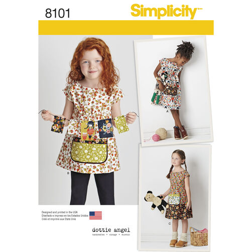 Simplicity Pattern 8101 Child's Dress and Tunic from Dottie Angel