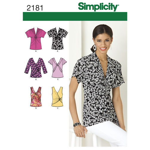 Simplicity Pattern 2181 Misses' Knit Tops
