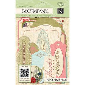 K&Company Beyond Postmarks Floral Die-Cut Cardstock_30-657953