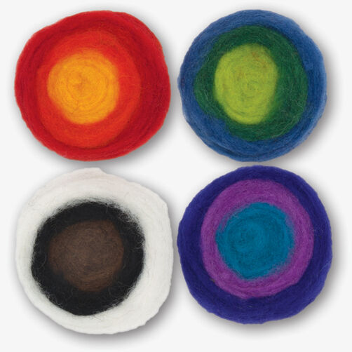 Multi-Color Roving Rolls, Needle Felting_72-73635