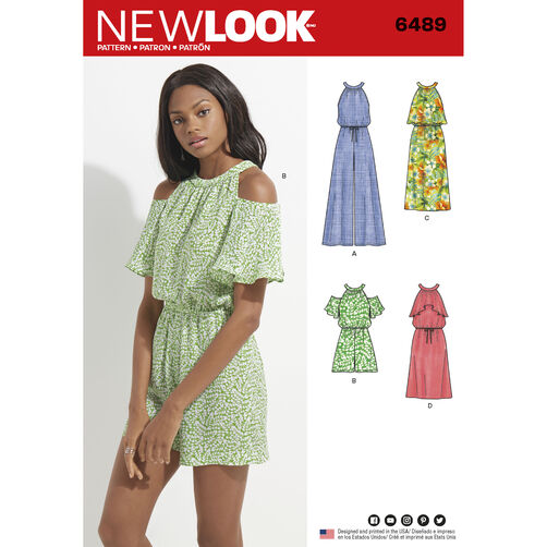 New Look Pattern 6489 Misses Jumpsuit Romper And Dress