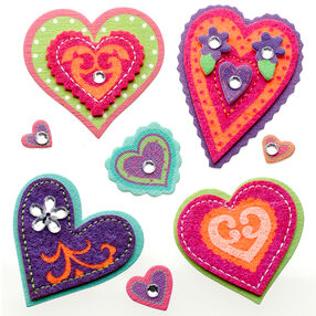 Colorful Stitched Hearts Stickers_50-21290