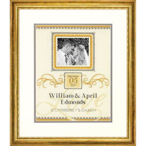 Elegant Flourish Wedding Record, Counted Cross Stitch_70-35342