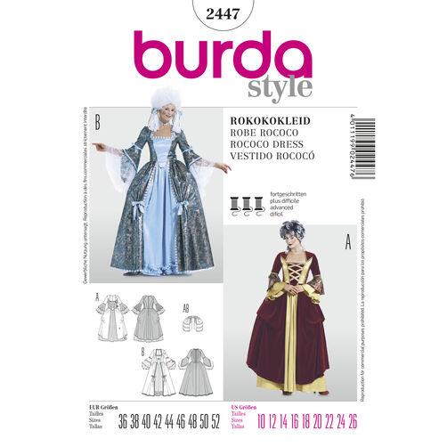 Burda Style Pattern 2447 Rococo Dress