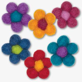 Mini Wool Felt Ball Flowers_72-73640